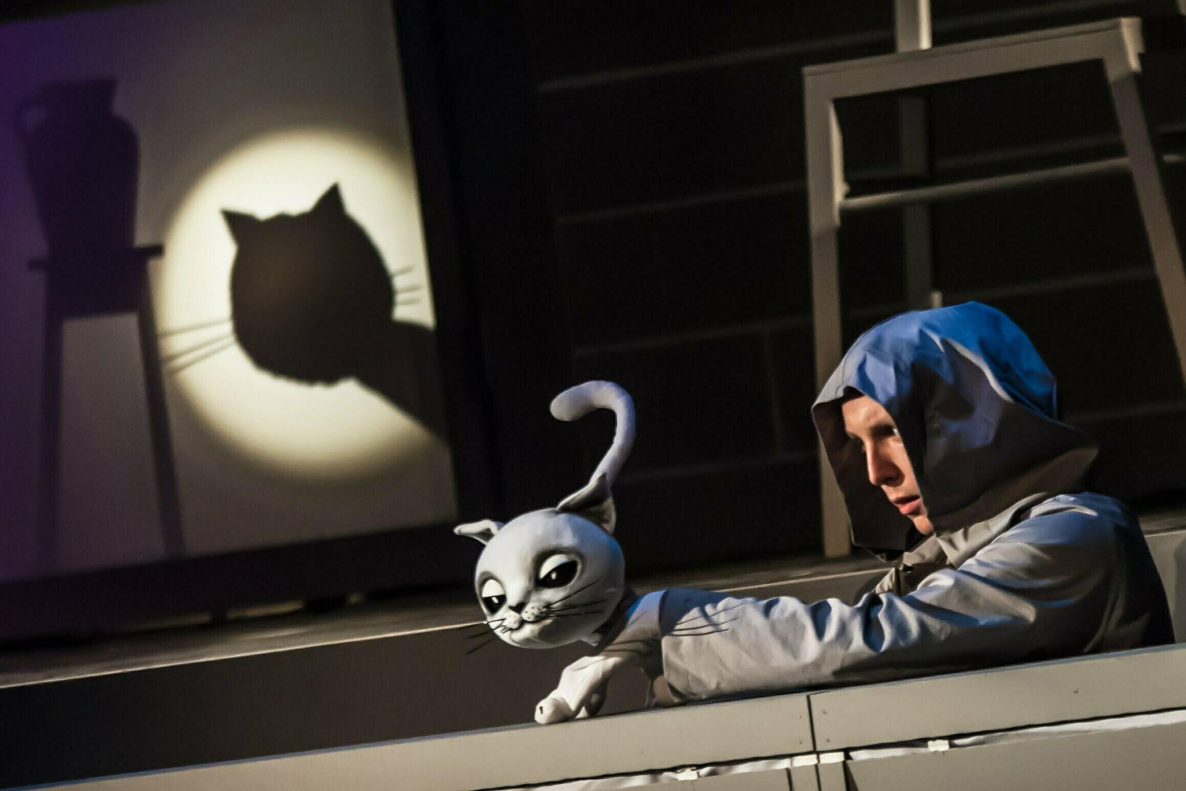 Zdjęcie ze spektaklu Przygody kota Filemona.